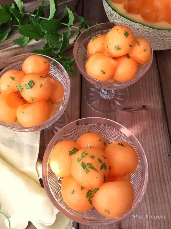 Cantaloupe with ouzo
