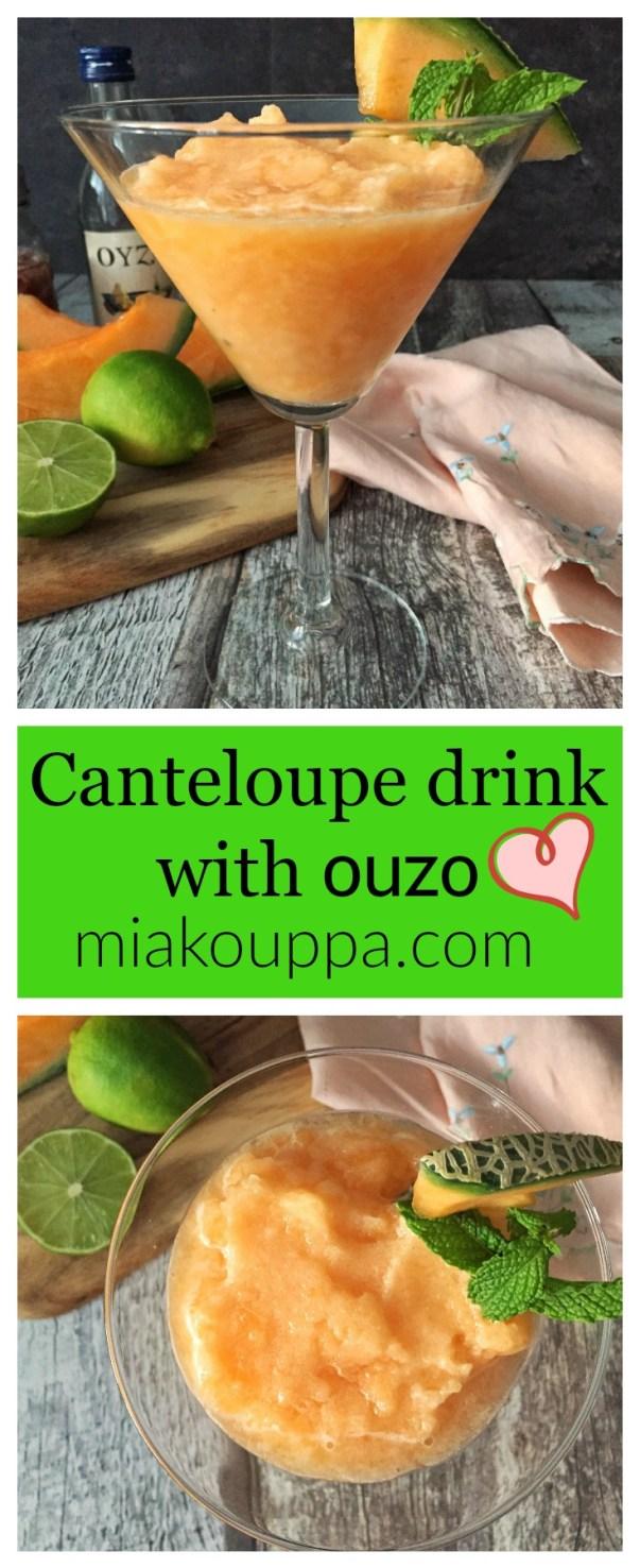 Cantaloupe frosty with ouzo