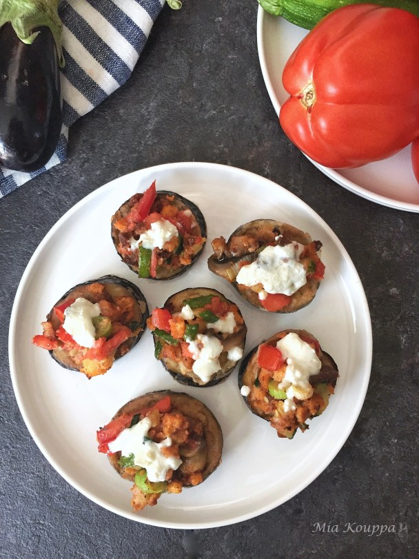Fried eggplant bruschetta