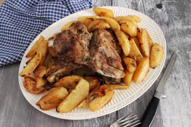 Greek Roast lamb with potatoes