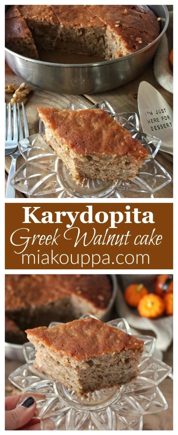 Walnut cake (Karydopita - Καρυδόπιτα)