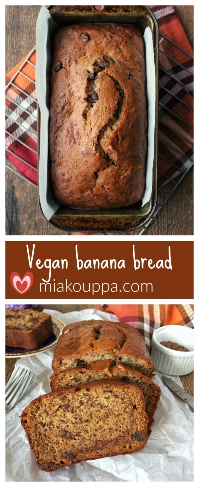 Vegan banana bread (Νηστίσιμο κέικ με μπανάνες)