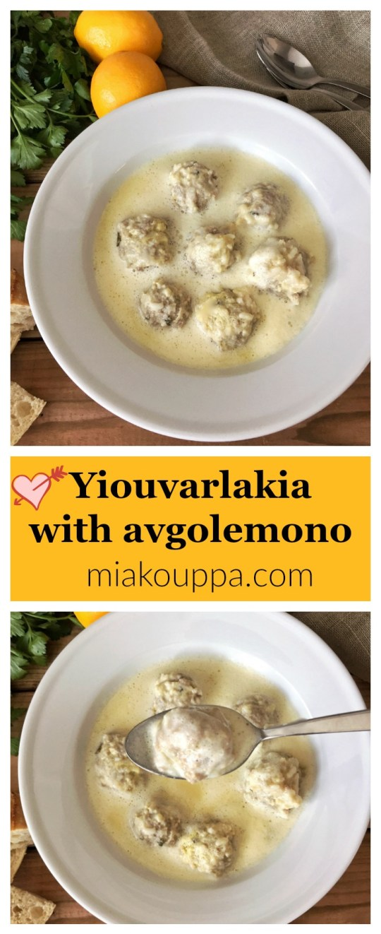 Yiouvarlakia with avgolemono (Γιουβαρλάκια αβγολέμονο)