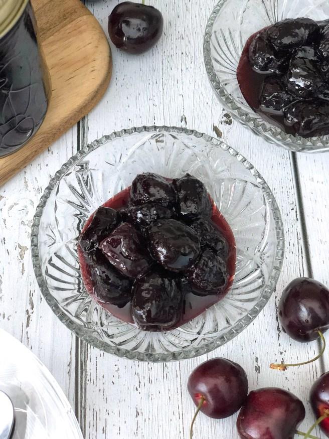 Cherry spoon sweet (Κομπόστα κεράσι)