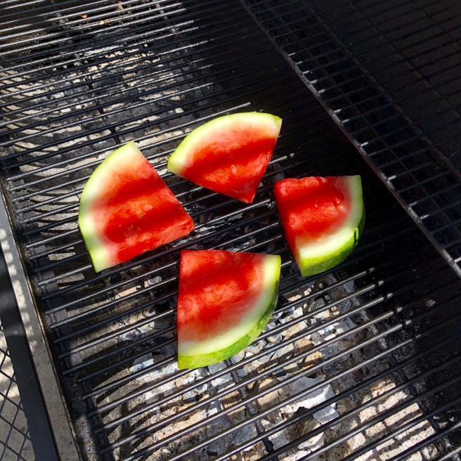 Grilling watermelon