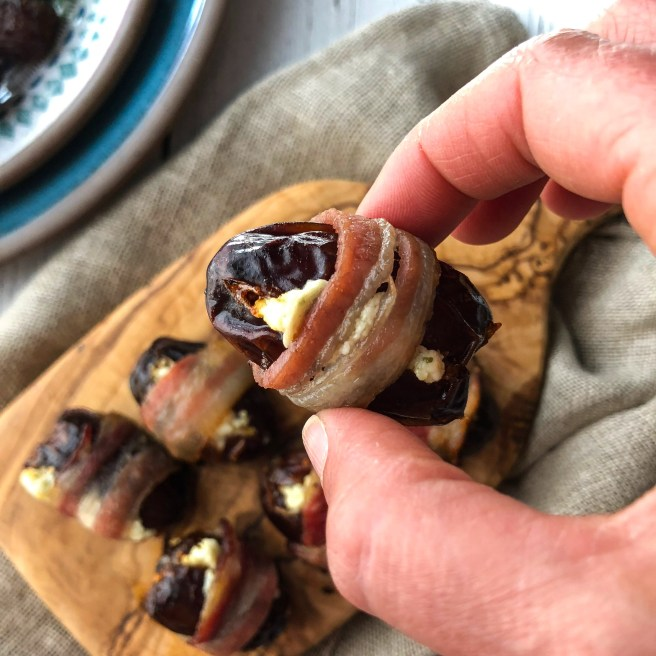 Dates stuffed with feta