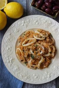 Calamari with rice