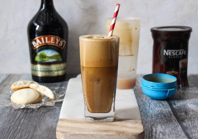 Frappé coffee with Baileys