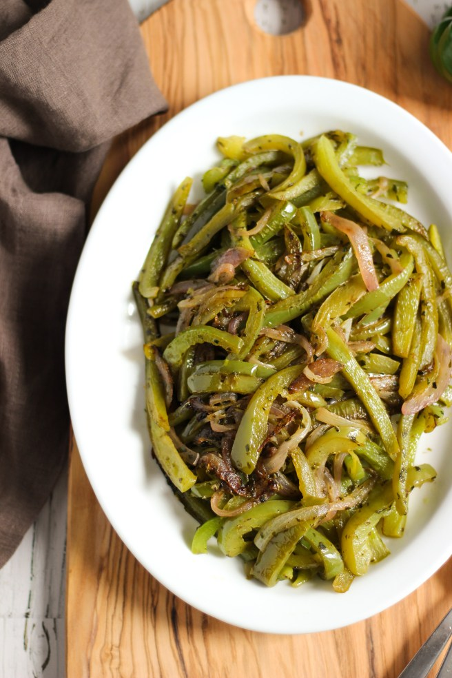 Sauteed green peppers
