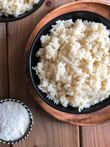 Rice with mizithra and burnt butter