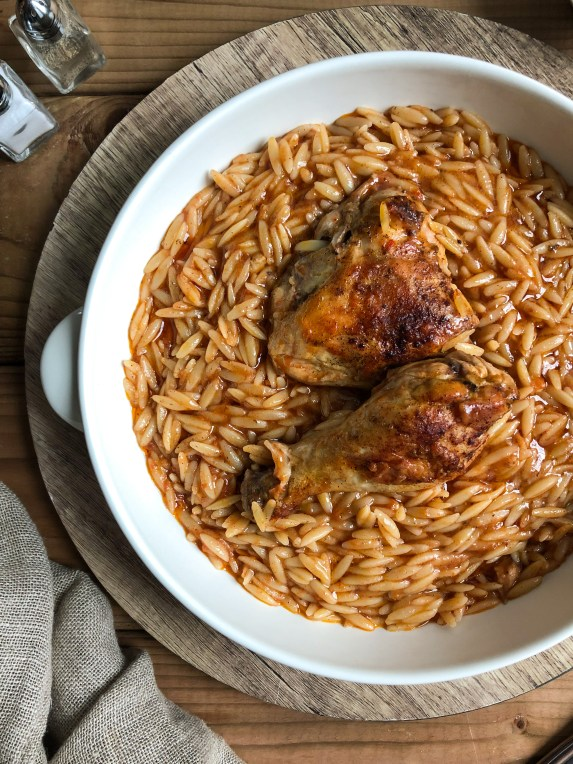 Youvetsi with chicken