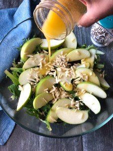 Apple and almond salad