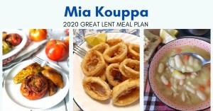 Mia Kouppa Great Lent meal plan
