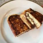 Banana and chocolate tsoureki french toast