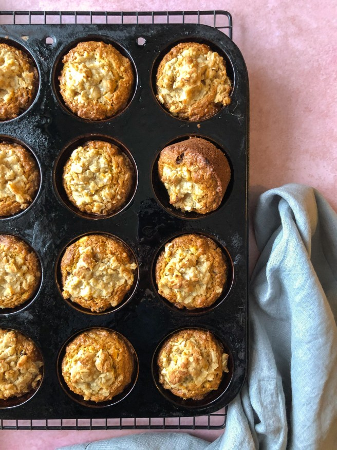 Orange muffins with dates and figs