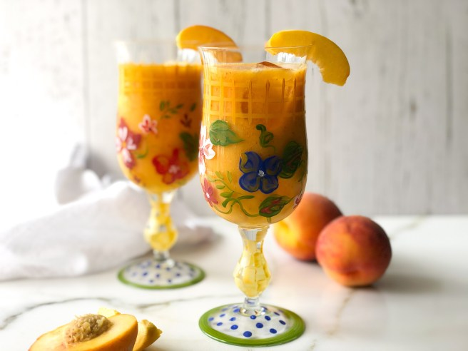 Peach and orange Metaxa cocktail