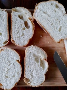 Grilled bread with olive oil and oregano