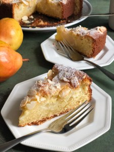 Almond and Pear cake