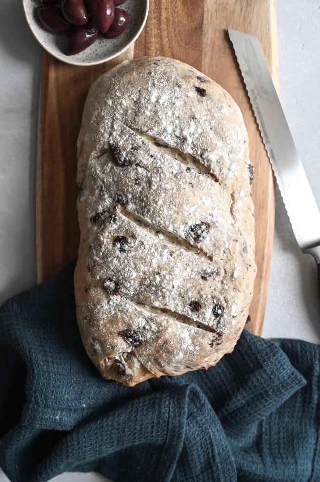 Easy Greek olive and oregano bread