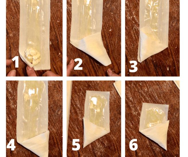 How to fold Tyropitakia or Cheese Pies