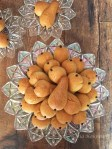 Syrup soaked cookies shaped like little pears but flavoured with a hint of orange!