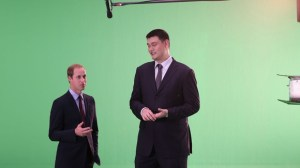 Duke of Cambridge and Yao Ming