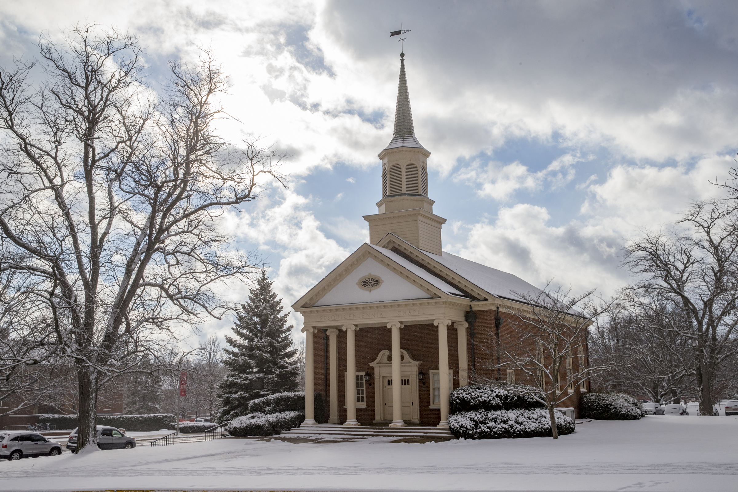 Sesquicentennial Chapel in the winter