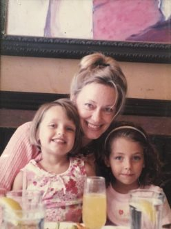 Sarah with her two nieces