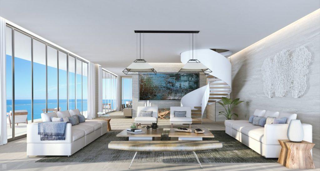 Auberge Fort lauderdale Penthouse Living Room