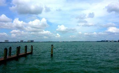 Shuckers' view of the bay. (Copyright Miamicito)