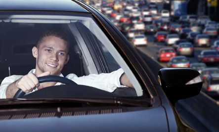 Reduce your road rage stress by playing a comedy album