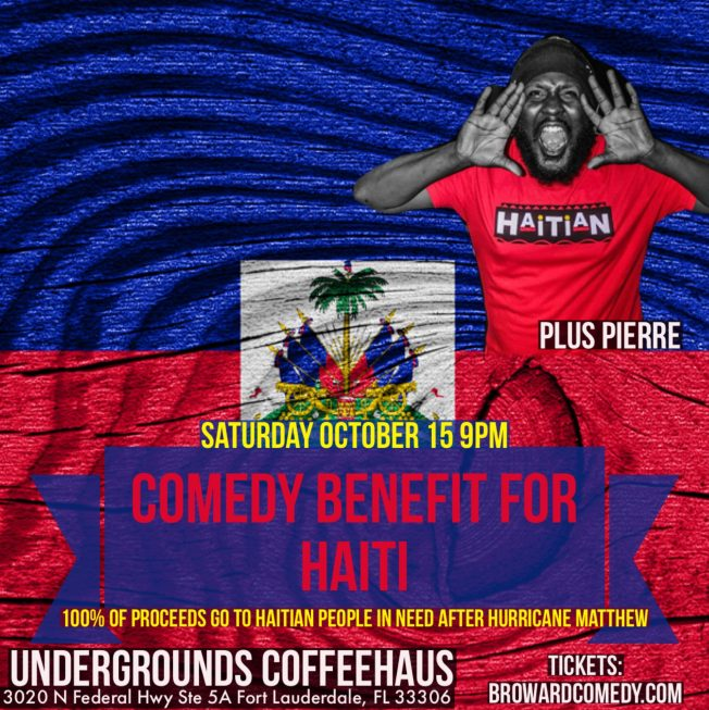 Comedy Benefit for Haiti with Plus Pierre.