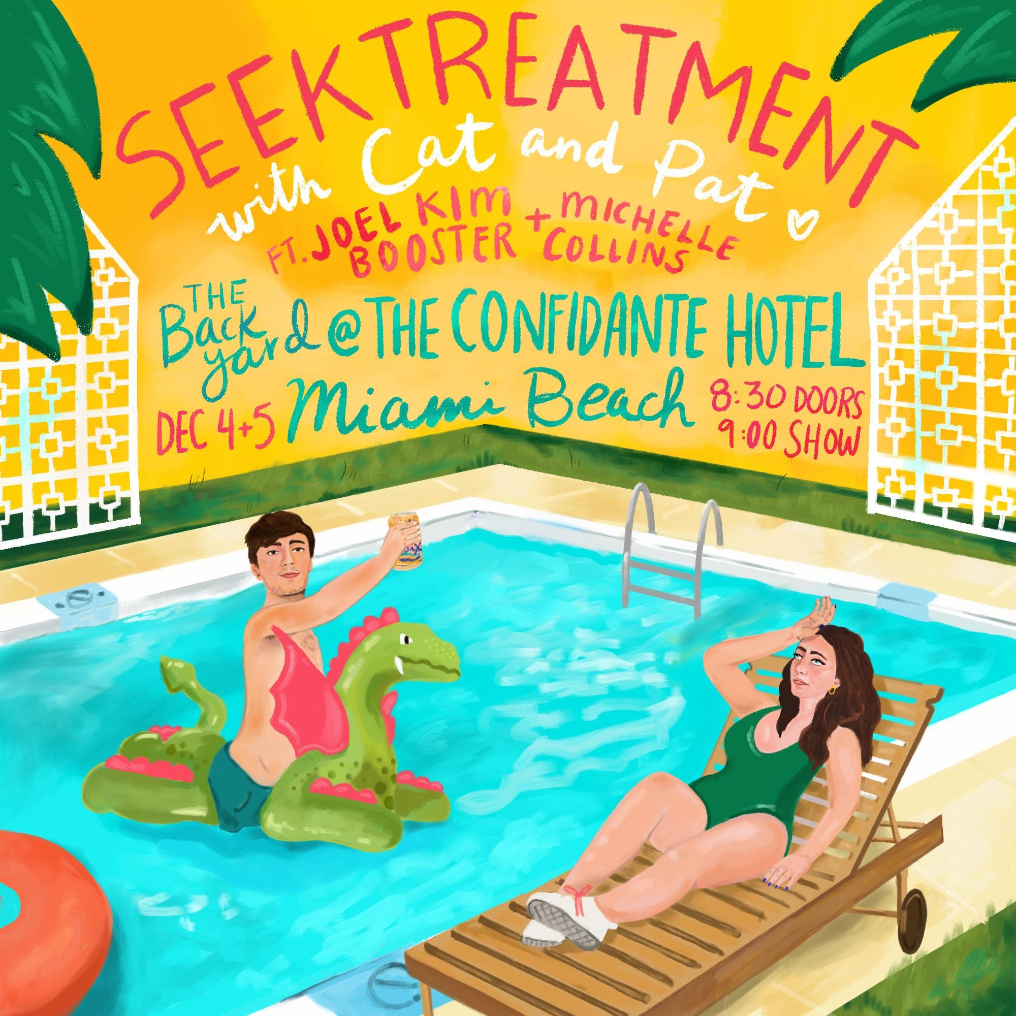 Seek Treatment live at the confidante hotel