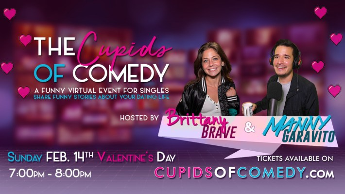 Valentines Day Virtual Comedy Show Cupids of Comedy