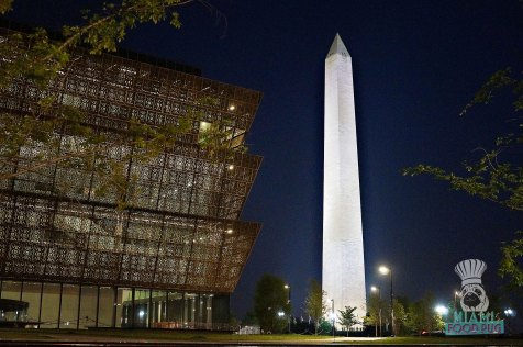 D.C. Monuments at Night - Washington Monument and National Museum of African American