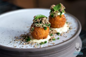 Stubborn Seed - Hawaiian Crab and Corn Beignets