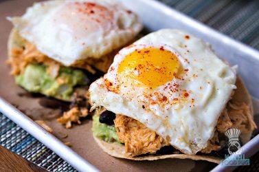 Lolo's Surf Cantina - Breakfast - Mazunte Style Spicy Chicken Tostadas