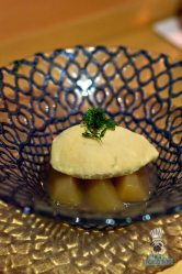 Azabu - Omakase - Apple Compote with Ginger Ice Cream