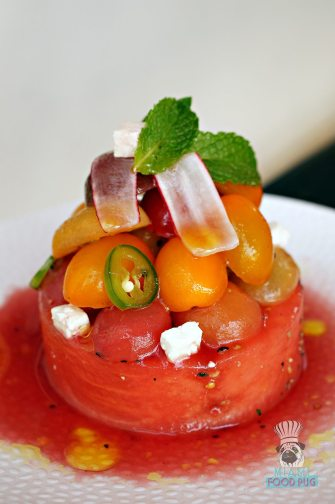 LT Steak and Seafood - Watermelon and Hierloom Tomato Salad