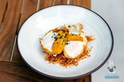 Obra Kitchen Table - Sea Urchin Fried Egg French Fries