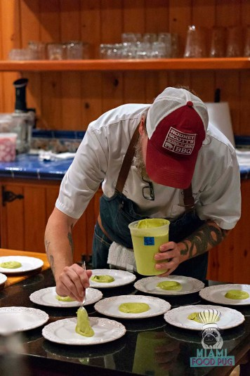 Estancia Culinaria x Heirloom Hospitality Group Farm to Farm Dinner - Brussels Sprouts Setup