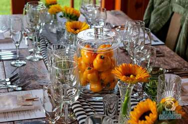 Estancia Culinaria x Heirloom Hospitality Group Farm to Farm Dinner - Table