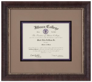 Triple Mat Framed Diploma
