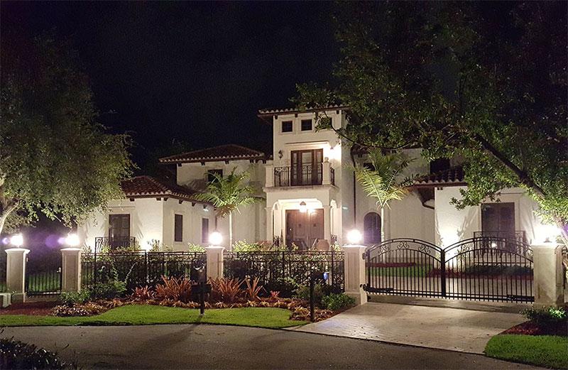 residential lighting miami landscape