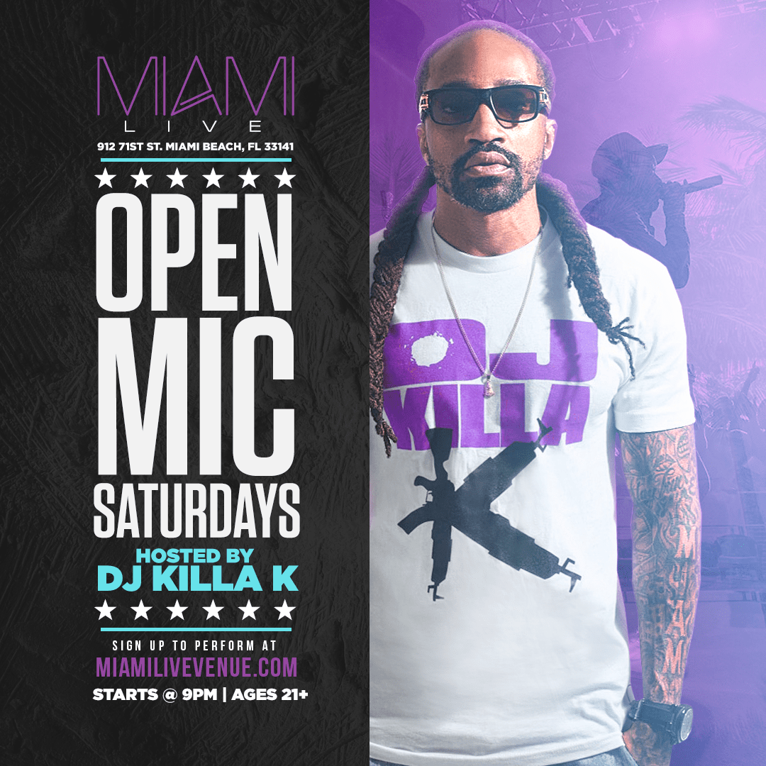 Miami LIVE Open Mic - Perform on Miami Beach for Free!
