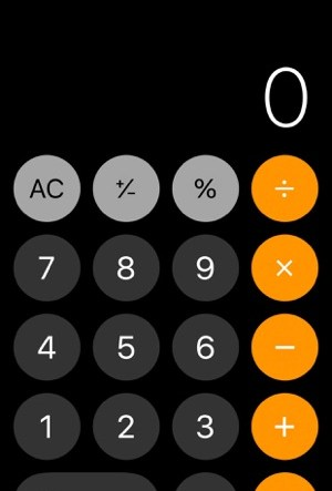 ios 11 calculator