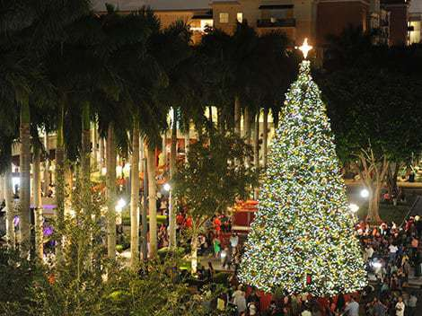 Christmas at the Shops at Merrick Park - Holiday Light Displays In Miami - Miami On The Cheap