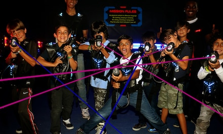 Up to 35% Off FunDimension Attraction Pass with Laser Tag, Spin Zone, 7D Theatre, Bungy Dome, and $15 Game Card