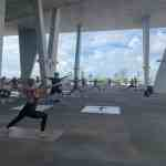 Free weekly yoga classes with a breathtaking view