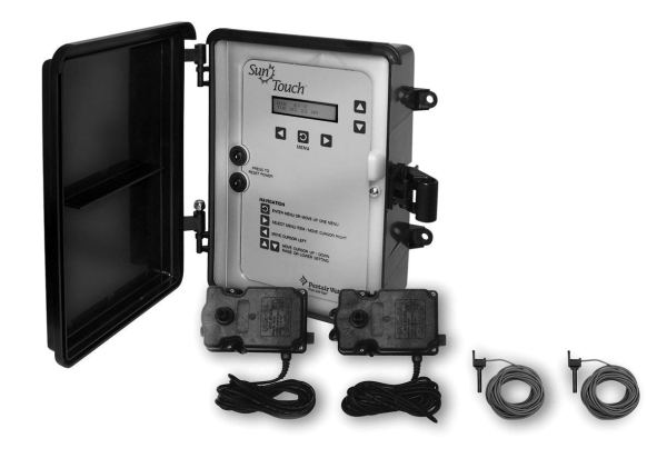 Pentair 520819 SunTouch Pool and Spa Solar Control System with 1 Solar Valve, Black
